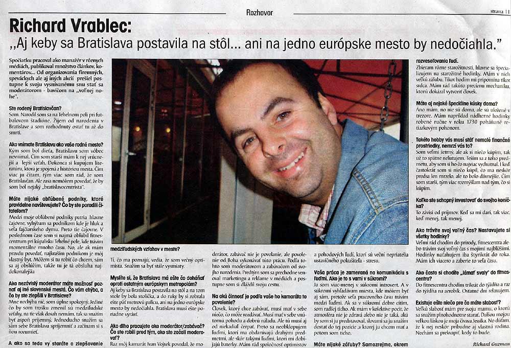 Život Bratislavy, Apríl 2005: Aj keby sa Bratislava postavila na stôl... ani na jedno európske mesto by nedočiahla.