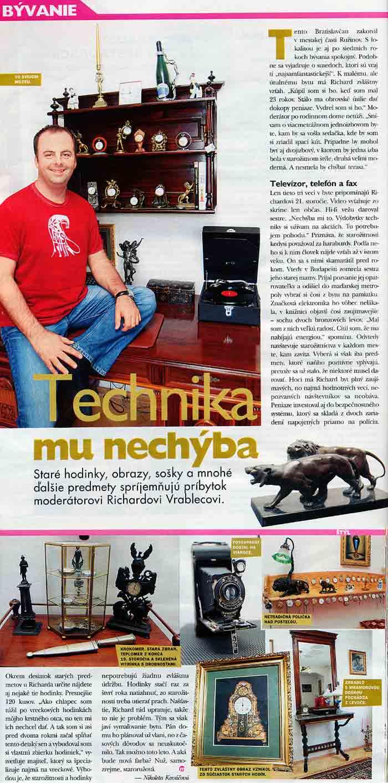 Časopis Markíza, máj 2004: Technika mu nechýba