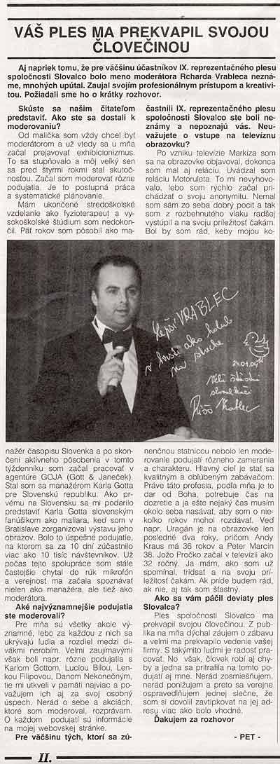 Noviny Hutník Žiar /n Hr. č.2: Váš ples ma prekvapil človečinou