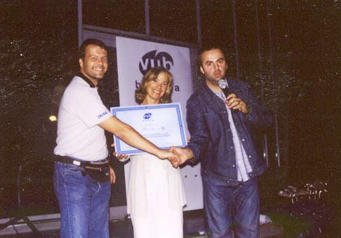 Na krste nového loga VUB s pánom Kovácsom Rolandom a šarmantnou Kamilou Magálovou.