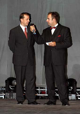 S ústredným riaditelom STV, Richardom Rybníčkom.