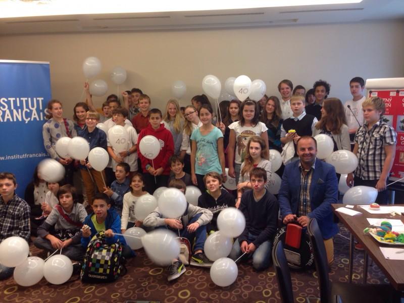 Tyžden Francúzskych chuti sme odštartovali s detmi z francuzskej školy v hoteli Mercure. 14.október.2013. Bratislava