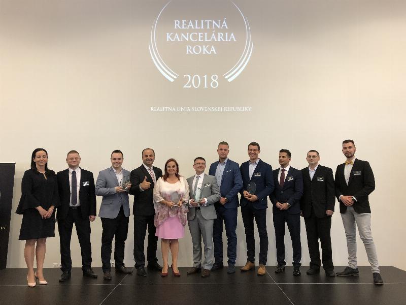 4. realitny kongres Realitnej unie SR. Vyhlasenie realitna kancelaria roka 2018. 16.maj 2018 Bratislava.