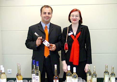 Patríciou Packovou zo spoločnosti Kapsch na ochutnávke Tokajských vín J