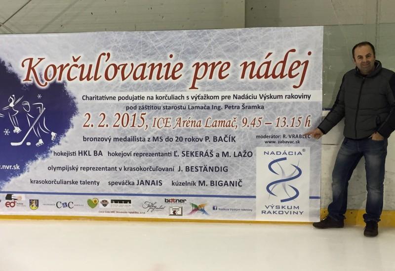 Korčulovanie pre nádej. S nadaciou vyskum rakoviny. 2.februara.2015. Bratislava.