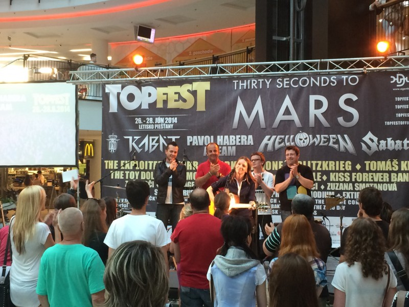 Topfest tour v Mirage Zilina. 25.máj.2014. Žilina.