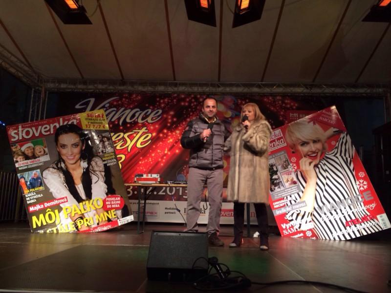 S Marcelou Laiferovou na akcii pre tyždennik Slovenka. 4.decembra, 2013. Bratislava.