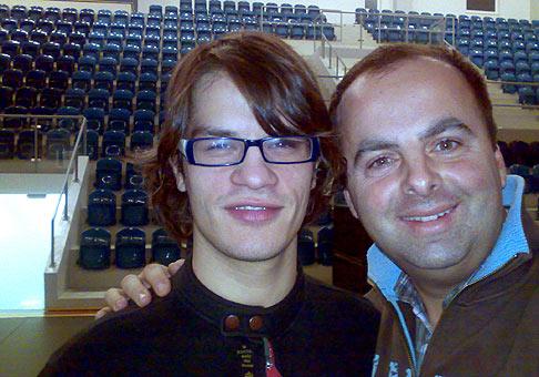 S Davidom Krausom pred koncertom Alexandrovcov v Prešove.