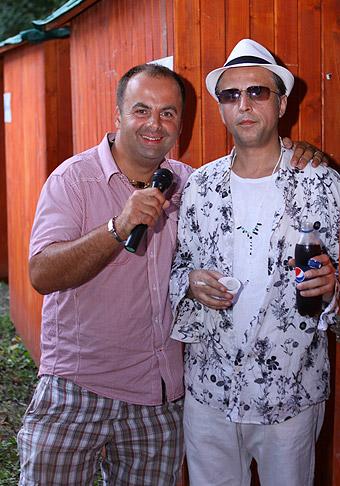 S Robom Grigorovom. 14.8.2010, Žiar nad Hronom.