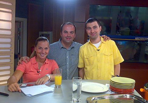 V teleráne televízie Markíza s Dominikou Cibulkovou a Darom Richterom. 10.6.2009