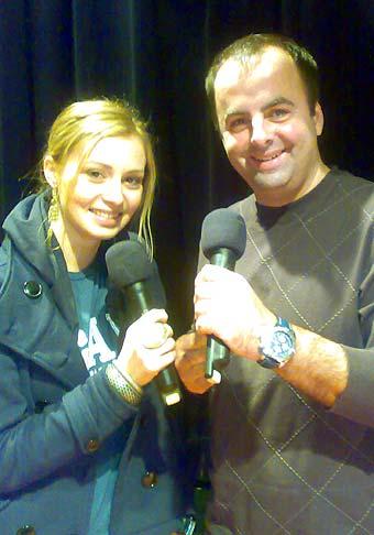S Máriou Čírovou na Slávnostnom odovzdávaní ocenení Najúspešnejší športovci mesta Žiar nad Hronom 23.2.2009