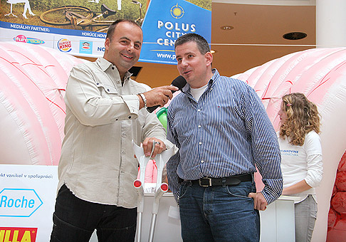 S Patrikom Hermanom, na podujatí v Poluse - Zdravie krása a šport. 3.9.2010.