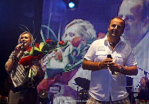Helenka Vondráčková na festivale v Červeníku. 6.-7.8.2010.