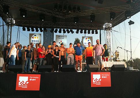 1. ročník - Preteky dračích lodí amatérov v Senici. 31.7.2010 Kunovská Priehrada.