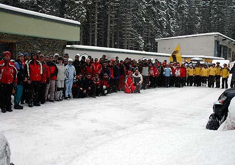 12. ročník zimných športových hier spoločnosti Doprastav a 7. ročník zimných športových hier spoločnosti Metrostav v Zuberci. 12.2.2009.