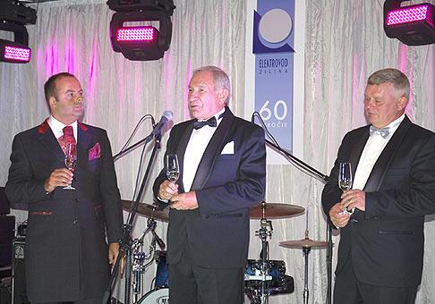 60. výročie založenia spoločnosti Elektrovod Žilina. Slávnostný večer sa konal v Holliday Inn Žilina. 2.10.2009.