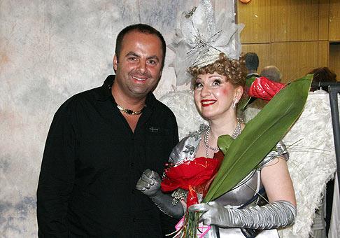 S Jaroslavou Kretschmerovou v dome kultúry Dúbravka. 3.10.2009. Bratislava.