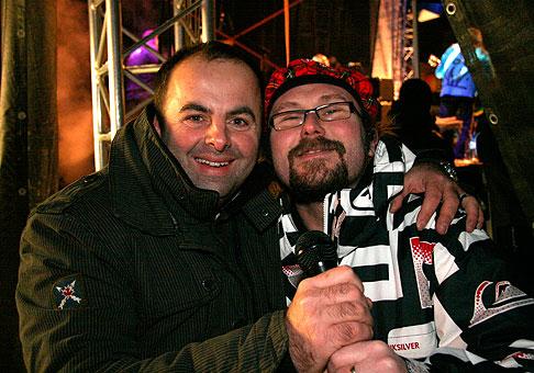 Pred vystúpením skupiny Horkýže slíže na Donovalyfeste 2010. 30.1.2010, Donovaly.