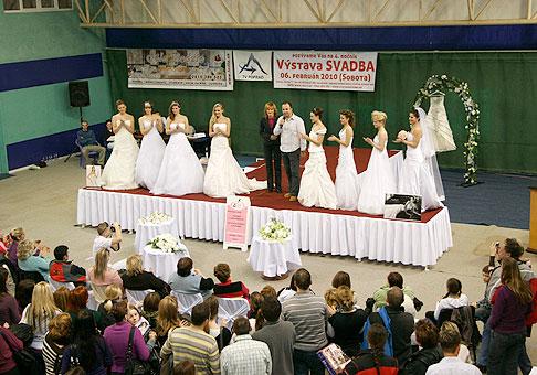 Štvrtý ročník svadobnej výstavy v Poprade, ktorú organizovala agentúra Leilla. Poprad 6.2.2010.