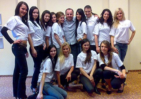 Sústredenie finalistiek Miss žilinského kraja v hoteli Dubná skala v Žiline. 7.2.2010.