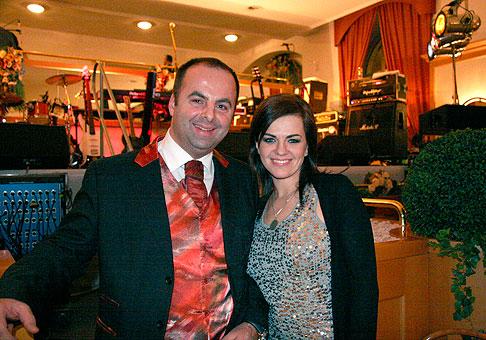 S Martou Jandovou počas muzikálového galavečeru v hoteli Tatra Trenčín. Trenčín 6.2.2010.