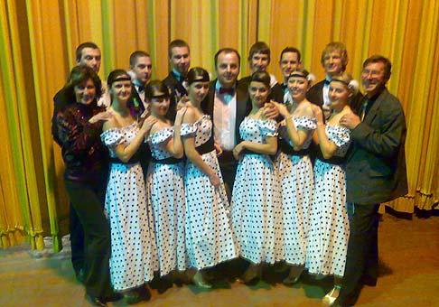 10. ročník Plesu spoločnosti Sauer Danfoss. S tanečnou školou Tep-dance manželov Žižkovcov z Považskej Bystrice. 21.2.2009