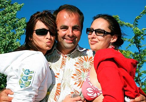 Z Mirkou Veterníkovou a s Aďou Koššárovou počas Nubium Rafting Cupu 2005.
