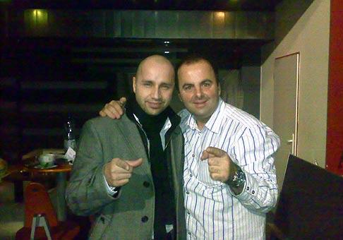 S Robom Opatovským na Christmas party spoločnosti Datalogic. 6.10.2008, Trnava Planet 4
