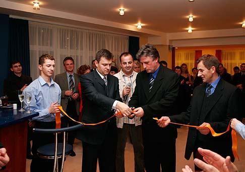 Otvorenie športovo-relaxačného centra Port Club v Námestove. 02.12.2005.