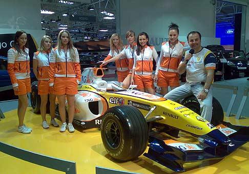 Pracovať pre F1 ING Renault team na Autosalone bolo dosť náročné, ale akcia to bola užasná 19.-20.04.2008.