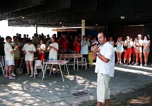 Fantastické výkony účastníkov športového dňa ING Tatry-Sympatia si zaslúžia potlesk. Zemplínska Šírava. 7.7.2006.