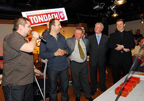 10. výročie založenia spoločnosti Tondach. Krst novej škridle Bravúra. 21.3.2007, Bastion Pub.