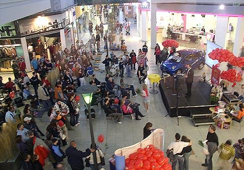 Valentínske aukcie 11.2.2007 v Avion Shopping Park.