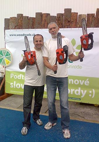 Milan Roskopf držiteľ 40 svetových rekordov a dvoch zápisov v Guinnessovej knihy rekordov na akcii spoločnosti Wood Trade na výstavisku Agrokomplex v Nitre. 2.10.2008